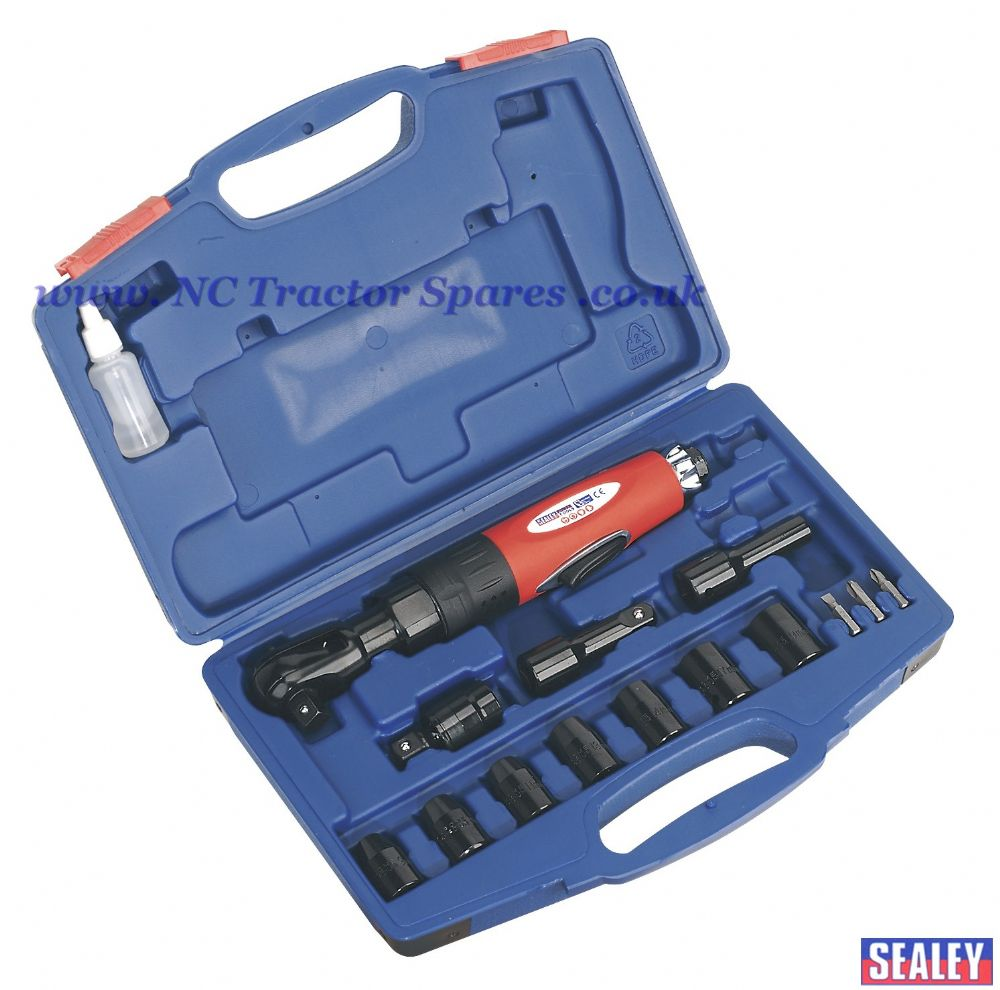 "Air Ratchet Wrench Kit 1/2""Sq Drive"